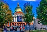 Red Sox Metal Prints - State House Boston MA Metal Print by Larry  Richardson