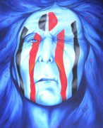 Painted Face Prints - State of the Nation Print by Robert Martinez