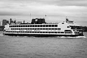 staten island ferry Andrew J Barberi new york usa Print by Joe Fox