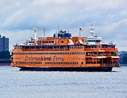 Staten Island Ferry Framed Prints - Staten Island Ferry Framed Print by Nick Zelinsky