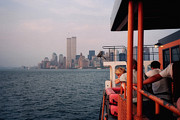 New York Skyline Art - Staten Island Ferry View by Joann Vitali