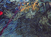 Psychology Painting Prints - States of Mind    Those Who Go Print by Umberto Boccioni