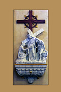 Statue Portrait Digital Art Prints - Station of the Cross 06 Print by Thomas Woolworth