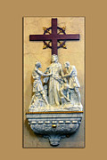 Statue Portrait Digital Art Prints - Station of the Cross 10 Print by Thomas Woolworth