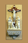 Statue Portrait Digital Art Prints - Station of the Cross 12 Print by Thomas Woolworth