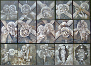 Egg Tempera Prints - Stations of the Cross Print by Mary jane Miller