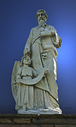 Religious Sculpture Acrylic Prints - Statue 05 Acrylic Print by Thomas Woolworth