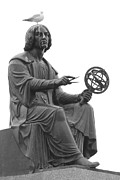 Copernicus Prints - Statue and Pigeon Print by Jim Hughes