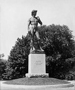 Statue Of David Delaware Park Buffalo Ny Print by Digital Reproductions
