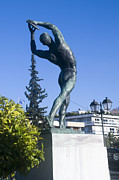Discus Photo Prints - Statue of Discus Thrower Print by Ilan Rosen