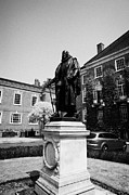 Grays Framed Prints - statue of francis bacon in front of grays inn hall London England UK Framed Print by Joe Fox