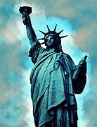 Liberty Paintings - Statue of Liberty by Anke Wheeler