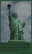Huddled Framed Prints - Statue of Liberty Inscription Framed Print by National Park Service