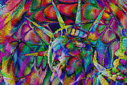 Independence Digital Art Prints - Statue of Liberty Print by Jack Zulli