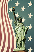Flag Of Usa Photo Prints - Statue of Liberty Print by Juli Scalzi