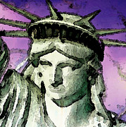 Statue Of Liberty - Liberty Print by Sharon Cummings
