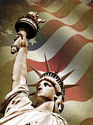 Star Spangled Banner Art - Statue of Liberty by Mark Rogan