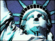 New York City Digital Art Posters - Statue of Liberty - Ms Liberty Poster by Sharon Cummings