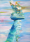 Torch Paintings - Statue Of Liberty - The Torch by Fabrizio Cassetta