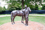 Abraham Lincoln Prints - Statue of Lincoln and his Horse Print by Thomas Marchessault