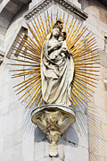 Lucca Photos - Statue of Madonna salutis portus  by Kiril Stanchev
