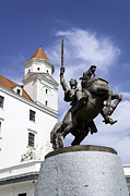 Moravia Photos - Statue of Svatopluk. by Fernando Barozza