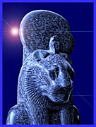 Condemn Posters - Statue of the Egyptian Lion Deity Maahes Poster by Harold Bonacquist