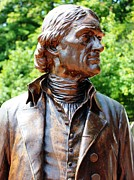Thomas Jefferson Posters - Statue of Thomas Jefferson Poster by Judy Palkimas