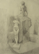 Statues Print by Cynthia Harvey