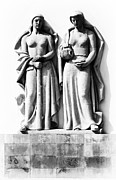 Court Of Law Prints - Statues in the facade of the Tribunal Print by Jose Elias - Sofia Pereira