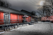 Red Roof Photo Posters - Staunton VA Train Depot Poster by Todd Hostetter