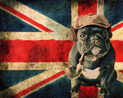 Bulldog Digital Art - Stay Calm and Carry ON by Enzie Shahmiri