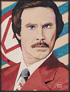 Ron Burgundy Prints - Stay Classy Print by Kyle Willis