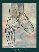 Featured Digital Art Acrylic Prints - Stay On Your Toes-2 Acrylic Print by Nina Bradica