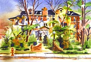 Water Colors Painting Originals - Ste Marys of the Ozarks Hospital by Kip DeVore