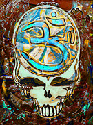 Grateful Dead Art Glass Art Prints - Steal Your Search For The Sound THREE Print by Kevin J Cooper Artwork