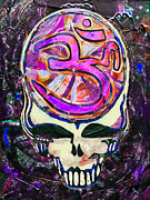 Grateful Dead Art Glass Art Prints - Steal Your Search For The Sound TWO Print by Kevin J Cooper Artwork