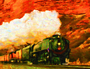 Black Commerce Art - Steam and Sandstone by Chuck Mountain