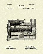 Unit Framed Prints - Steam Boiler 1887 Patent Art Framed Print by Prior Art Design
