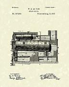 Steam Boiler 1887 Patent Art Print by Prior Art Design