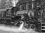 Wv Locomotive Photos - Steam Climax monochrome by Steve Harrington