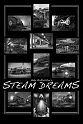 Railroad Tracks Posters - Steam Dreams Poster by Mike McGlothlen