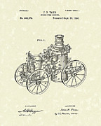 Wagon Drawings Framed Prints - Steam Engine 1896 Patent Art Framed Print by Prior Art Design