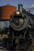 Amish Photographs Posters - Steam Engine #475 pulling into the Strasburg RR station  01 Poster by Mark Serfass