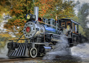 Antiques Digital Art Posters - Steam Engine Poster by Bill  Wakeley