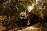 Fall Scene Photos - Steam Engine No. 300 by Robert Frederick