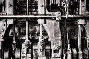 Machinery Photo Posters - Steam Engine Poster by Olivier Le Queinec