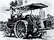 Greyhound Photos - Steam Engineer And Traction Engine V2 by F Leblanc