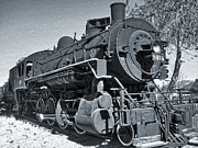 Gregory Dyer - Steam Locomotive - black and white