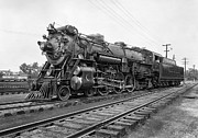 Great Depression Prints - STEAM LOCOMOTIVE CRESCENT LIMITED c. 1927 Print by Daniel Hagerman